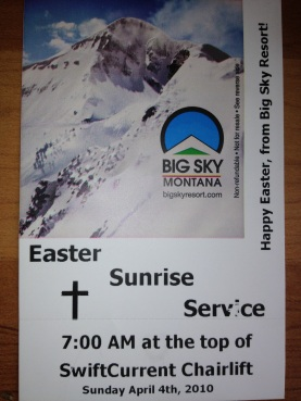 Special printed Easter Sunrise ticket for all who attending the 7am worship service.