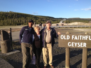Former Resort Missionary supervisor and wife, Bill & Teena Lee visits me at Old Faithful - August 2012