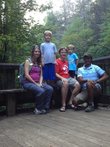 Hike/Visit with former Yellowstone Innovator & Family, Michael & Amy Whitlark with kids, Bryce & Dawson in Sautee, GA - August 2012